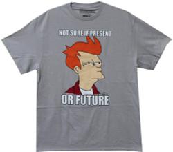 Image Closeup for Futurama T-Shirt - Fry Not Sure if Present or Future