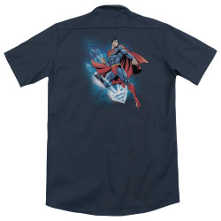 Image for Superman Dickies Work Shirt - Crystallize