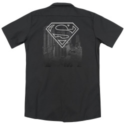 Image for Superman Dickies Work Shirt - Skyline