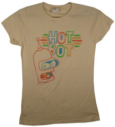 Image for Futurama Girls T-Shirt - Hot Bot