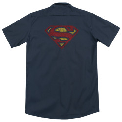 Image for Superman Dickies Work Shirt - Crackle S