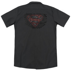 Image for Superman Dickies Work Shirt - Brick S