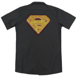 Image for Superman Dickies Work Shirt - Hot Steel Shield