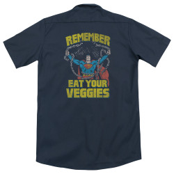 Image for Superman Dickies Work Shirt - Veggie Power