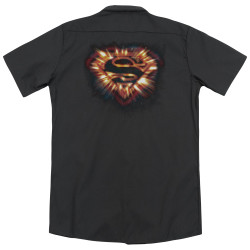 Image for Superman Dickies Work Shirt - Space Burst Shield