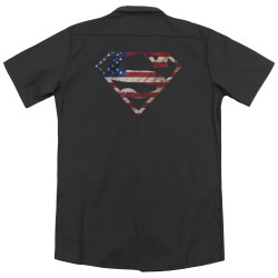 Image for Superman Dickies Work Shirt - Super Patriot