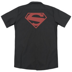 Image for Superman Dickies Work Shirt - 52 Red Block