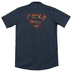 Image for Superman Dickies Work Shirt - Super Distressed