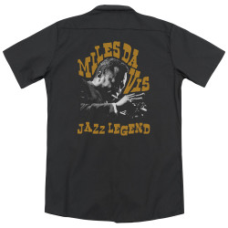 Image for Jazz and Blues Dickies Work Shirt - Miles Davis Jazz Legend