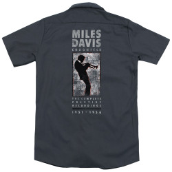 Image for Jazz and Blues Dickies Work Shirt - Miles Davis Miles Silhouette