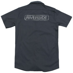 Image for Jazz and Blues Dickies Work Shirt - Riverside Distressed