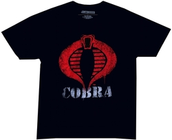 Image Closeup for GI Joe Painted Cobra Logo T-Shirt