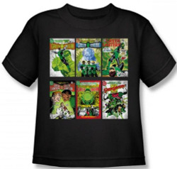 Image for Green Lantern Covers Kid's T-Shirt