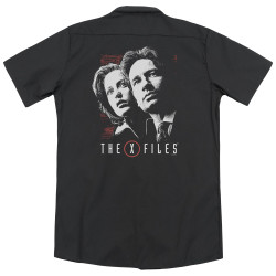 Image for X Files Dickies Work Shirt - Mulder & Scully