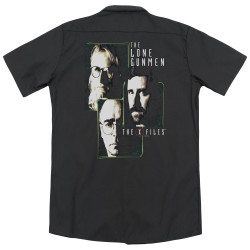 Image for X Files Dickies Work Shirt - Lone Gunmen
