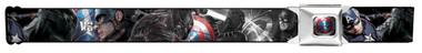 Image for Captain America Seatbelt Buckle Belt - Civil War Close-Up