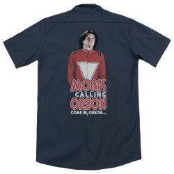 Image for Mork & Mindy Dickies Work Shirt - Come In Orson