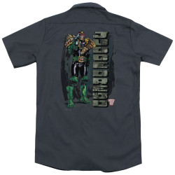 Image for Judge Dredd Dickies Work Shirt - Blam