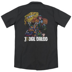 Image for Judge Dredd Dickies Work Shirt - Bike And Badge