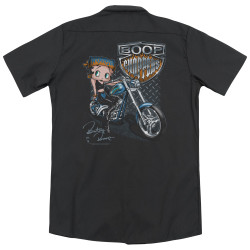 Image for Betty Boop Dickies Work Shirt - Choppers