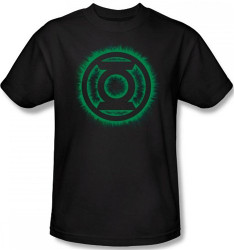 Image Closeup for Green Lantern Green Flame Logo T-Shirt