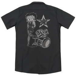 Image for Betty Boop Dickies Work Shirt - With The Band