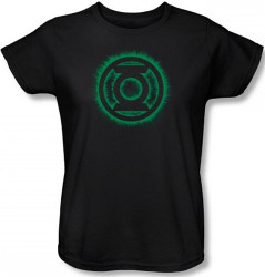 Image for Green Lantern Green Flame Logo Woman's T-Shirt