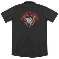 Image for Betty Boop Dickies Work Shirt - Heart You Forever