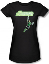 Image for Green Lantern Energy Construct Logo Girls Shirt