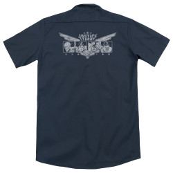 Image for Justice League Of America Dickies Work Shirt - Justice Wings