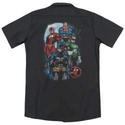 Image for Justice League Of America Dickies Work Shirt - The Four