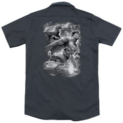 Image for Justice League Of America Dickies Work Shirt - Atmospheric