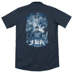Image for Justice League Of America Dickies Work Shirt - Burst