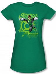 Image for Green Lantern Sector 2814 Girls Shirt