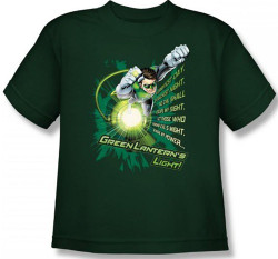 Image for Green Lantern Flying Oath Girls Shirt