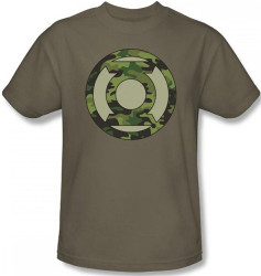 Image Closeup for Green Lantern Camo Logo T-Shirt