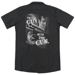 Image for Army Of Darkness Dickies Work Shirt - Guy With The Gun