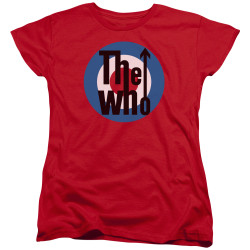 Image for The Who Woman's T-Shirt - Logo Red