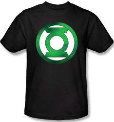 Image Closeup for Green Lantern Green Hot Rod Logo T-Shirt