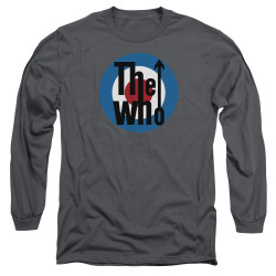 Image for The Who Long Sleeve T-Shirt - Logo Charcoal