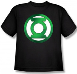 Image for Green Lantern Green Hot Rod Logo Youth T-Shirt
