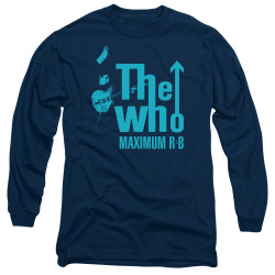 Image for The Who Long Sleeve T-Shirt - Maximum R&B Navy