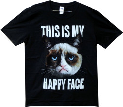Image for Grumpy Cat This is my Happy Face T-Shirt