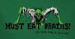 Image for Zombie T-Shirt - Zombie Must Eat Brains