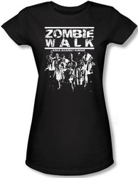Image for Zombie Walk Against Hunger Girls Shirt
