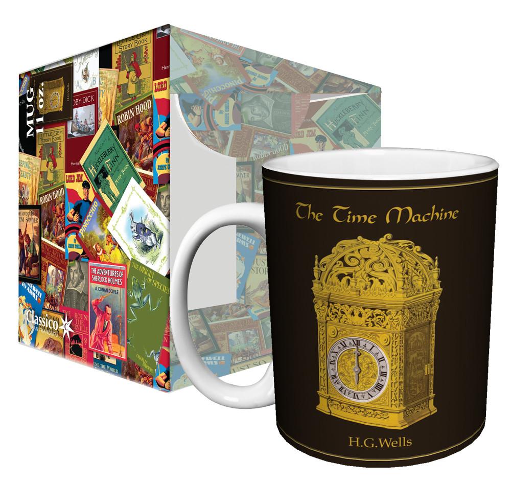 Penguin Book Cover Coffee Mugs : Classic book cover the time machine coffee mug nerdkungfu