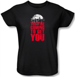 Image for Zombie T-Shirt - They're Coming to Get You Womens