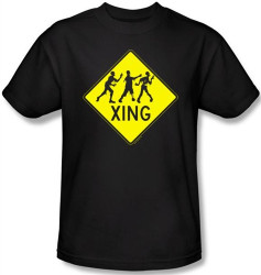 Image Closeup for Zombie T-Shirt - Zombie Xing