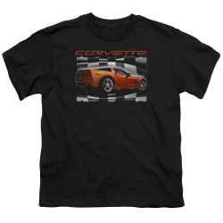 Image for Chevy Youth T-Shirt - Orange Z06 Vette