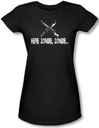 Image for Here Zombie Zombie Girls Shirt